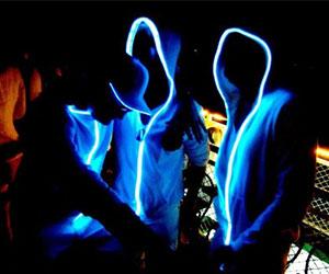 suéter con luces led