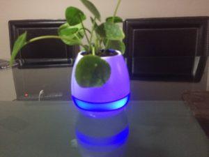 maceta altavoz por bluetooth inteligente