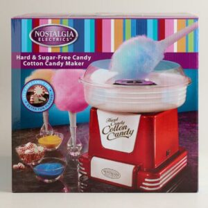 Máquina de algodón de azúcar con caramelos