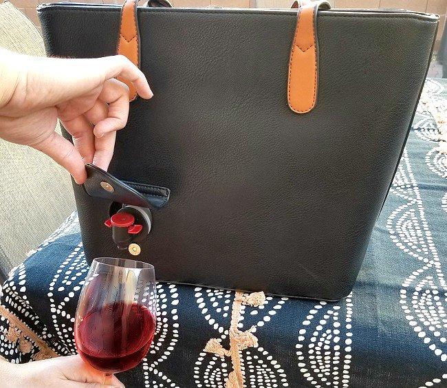 Cartera elegante para mujeres para meter alcohol