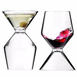 vaso mitad martini, mitad vino