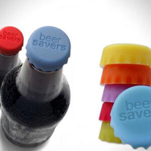 Tapas reutilizables de silicona para tapar botellas