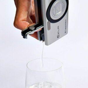 Envase en forma de camara fotografica