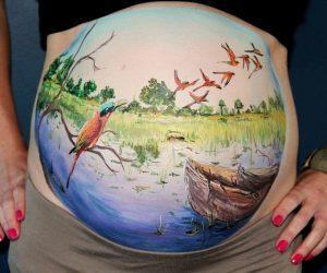 Kit de pintura para pintar viente a muejeres embarazadas
