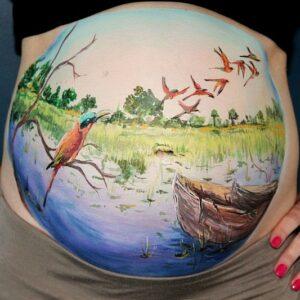 pinturas para vientre de mujeres embarazadas