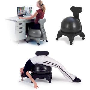 Silla pelota fitness para yoga multiuso