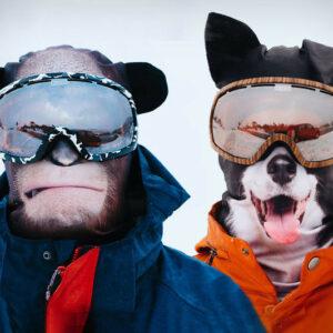 Mascaras 3D de animales Para Deportes de Nieve