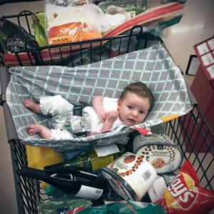 Hamaca para bebe en carrito de supermercado