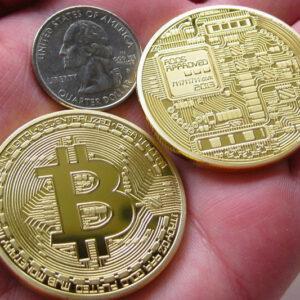 Bitcoins chapados en oro