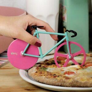 Cortador de Pizza en Forma de Bicicleta