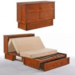 Mueble gabinete convertible en cama