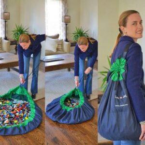 Manta convertible en bolsa colectora de juguetes Lay-n Go