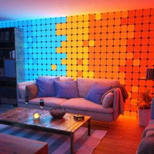 Paneles de luz que cambian de color