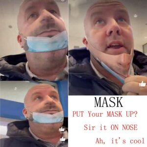 Mascara pareciera que no la tiene puesta