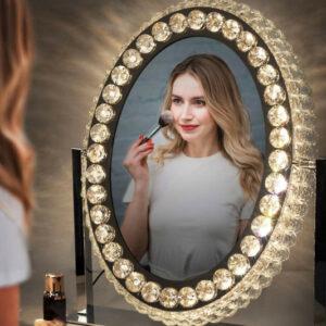Espejo con luces led graduables