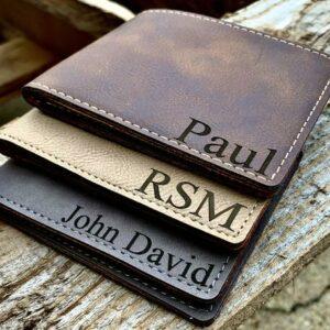 Billetera de cuero personalizada