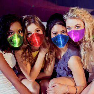 Mascara 7 colores de luces led