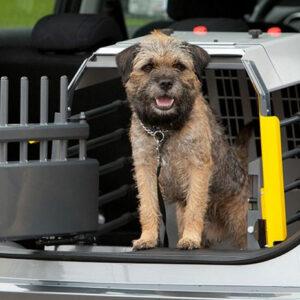 Jaula para perros contra choques