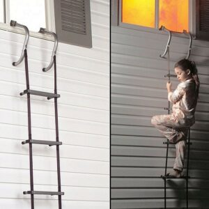 Escalera de escape de dos pisos